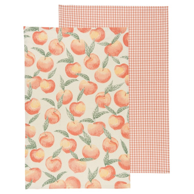 Now Designs Peaches Tea Towel Set