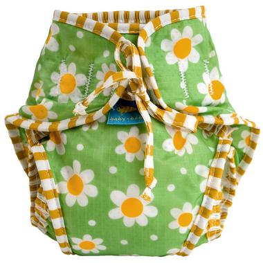 Kushies Washable Swim Diaper Green Daisies