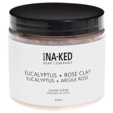 Buck Naked Soap Company Eucalyptus + Pink Clay Sugar Scrub