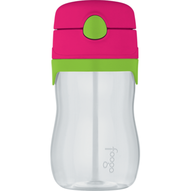 Foogo Tritan Leak Proof Straw Bottle Watermelon & Green