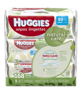 Huggies Natural Care Fragrance Free Baby Wipes