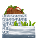 Lunchskins Reusable Zip Bag Set Blue Geo