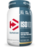 Dymatize Nutrition ISO100 Hydrolyzed Whey Protein Birthday Cake