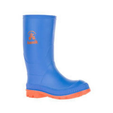 Kamik Stomp Rain Boot Blue Orange