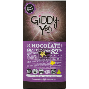 Giddy Yoyo Organic Chocolate Bar Salt & Vanilla