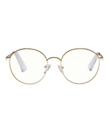 The Book Club Blue Light Glasses Bothering Sights Gold Clear