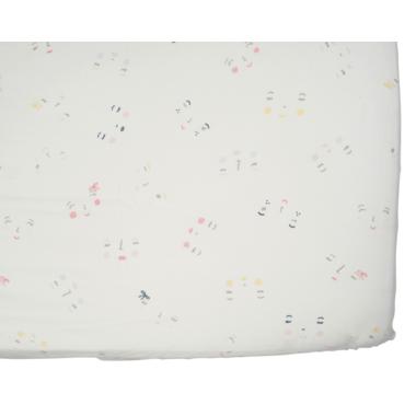 Petit Pehr Girl Peek-A-Boo Face Crib Sheet