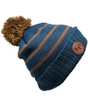 L&P Apparel Aspen Winter Hat Blue Steel & Caramel