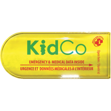 KidCo Emergency & Medical Data Carrier