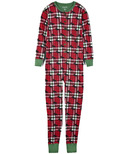 Little Blue House Adult Union Suit Holiday Moose on Plaid
