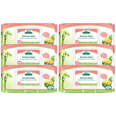 Aleva Naturals Bamboo Baby Ultra Sensitive Wipes 5+1 Pack