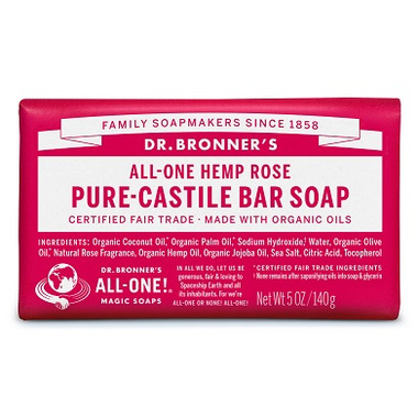 Dr. Bronner\'s Pure Castile Bar Soap Rose