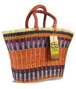 Alaffia Oval Handwoven African Grass Basket