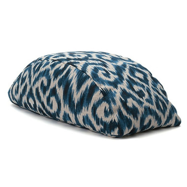 Halfmoon Bridge Meditation Cushion Indigo Ikat