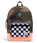 Herschel Supply Heritage Backpack Youth Green Camo & Neon Orange
