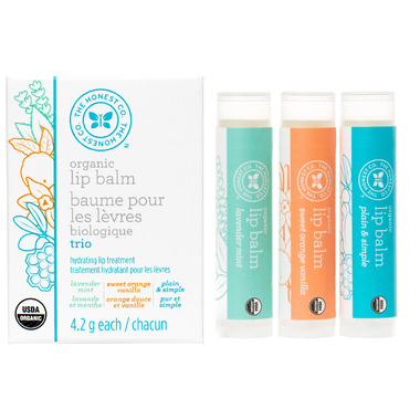 The Honest Company Organic Lip Balm Trio