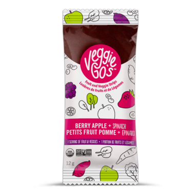 Veggie Go\'s Chewy Fruit and Veggie Strip Berry, Apple and Spinach