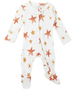 L'oved Baby Organic Zipper Footed Overall Starfish