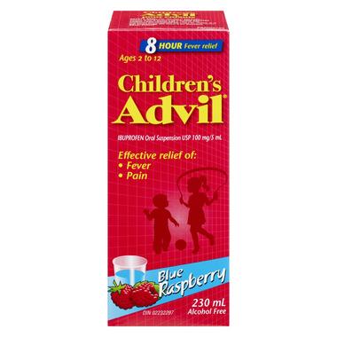 Advil Children\'s Suspension Blue Raspberry