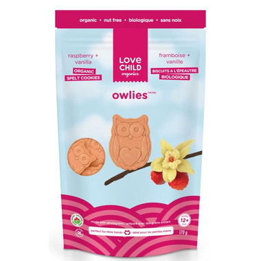 Love Child Organics Owlies Raspberry and Vanilla