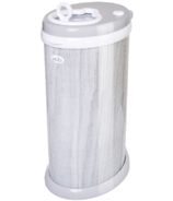 Ubbi Steel Diaper Pail Gray Wood Grain