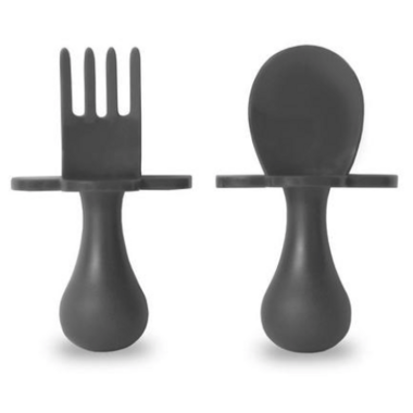 Grabease First Spoon and Fork Set Grey
