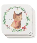 Now Designs Coasters Set of 4 Jingle Cat