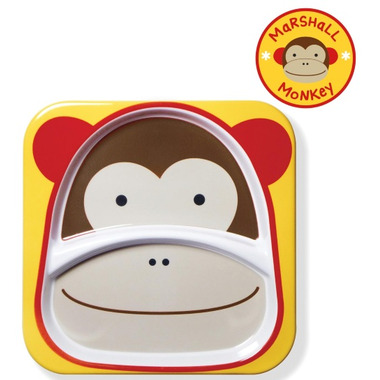 Skip Hop Zoo Tableware Melamine Plate Monkey Design