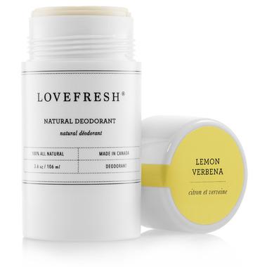 Lovefresh All-Natural Cream Deodorant Stick Lemon Verbena