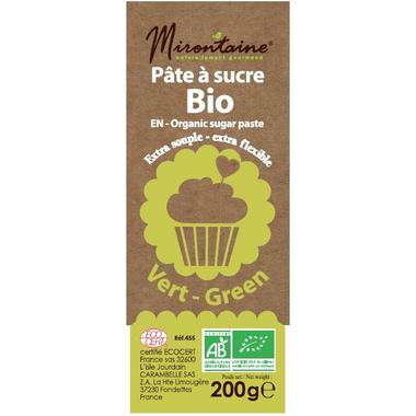Mirontaine Organic Fondant Sugar Paste Green