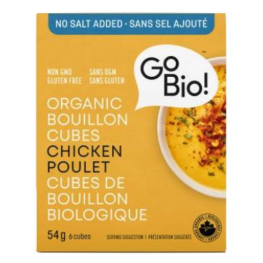 GoBIO! Organic No Salt Chicken Bouillon Cubes