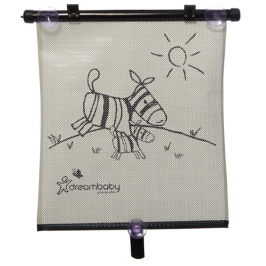 Dreambaby Adjustable Extra Wide Car Shade Tiger and Zebra
