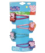 Peppa Pig Printed Glitter Snap Clips
