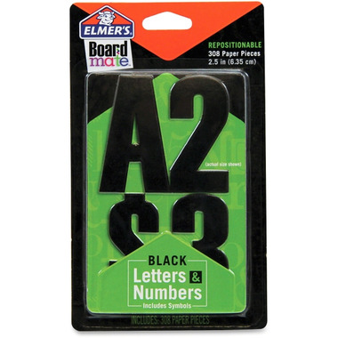 Elmer\'s Black Letters & Numbers Stickers