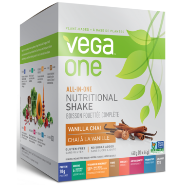 Vega One All-In-One Vanilla Chai Nutritional Shake Singles Box