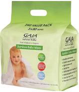 Gaia Natural Baby Bamboo Wipes