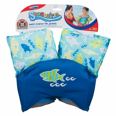 SwimWays Sea Squirts Swim Trainer Life Jacket Blue
