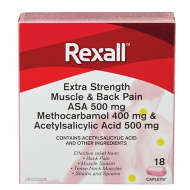 Rexall Muscle and Back Pain Relief with ASA 500 mg