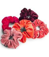 Zoe Ayla Velvet Scrunchies Red Mix