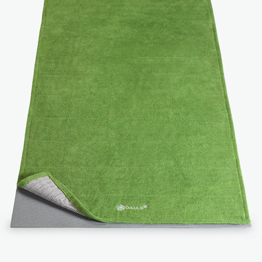 Gaiam Grippy Yoga Mat Towel Green