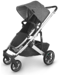 UPPAbaby CRUZ V2 Stroller Jordan Charcoal Melange Silver Black Leather