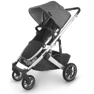 UPPAbaby CRUZ V2 Stroller Jordan Charcoal Melange Silver Black Leather