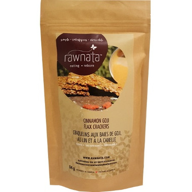 Rawnata Cinnamon Goji Flax Crackers