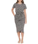 Smash + Tess Rebecca Wrap Dress Grey Lola Leopard