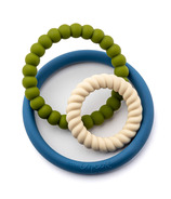 Little Cheeks 3-in-1 Trio Rings Silicone Textured Teethers Leo