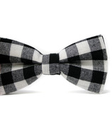 Mini Swag Black Plaid Bow Tie