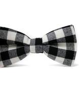 Mini Swag Black Plaid Bow Tie
