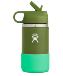 Hydro Flask Kids Wide Mouth 2.0 with Straw Lid Olive Spearmint