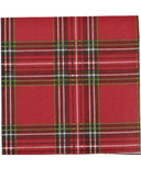 Harman Holiday Plaid Paper Napkins Cocktail Size