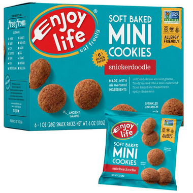 Enjoy Life Mini Soft Baked Snickerdoodle Cookie Snack Packs